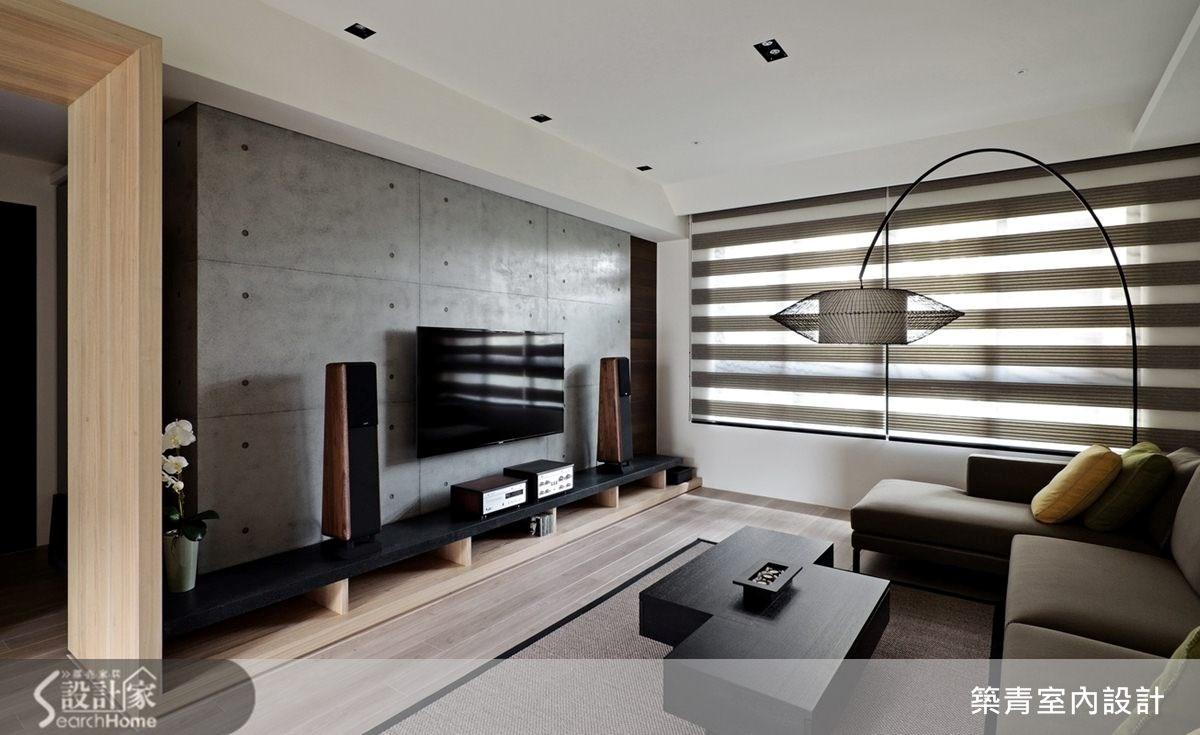45坪預售屋_現代風客廳案例圖片_築青室內裝修有限公司_築青_26之4