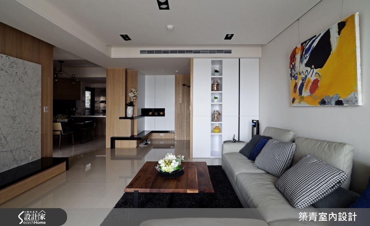 45坪預售屋_北歐風客廳案例圖片_築青室內裝修有限公司_築青_29之3