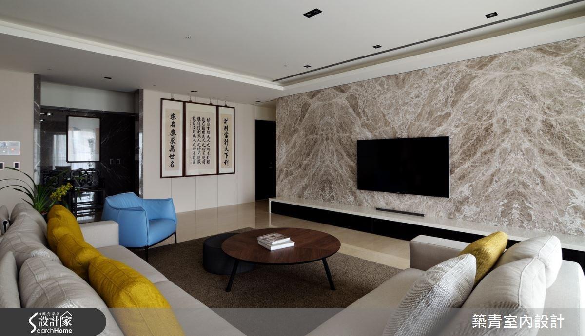 100坪預售屋_現代風客廳案例圖片_築青室內裝修有限公司_築青_30之3