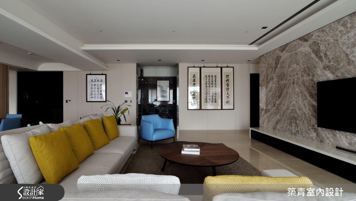 100坪預售屋_現代風客廳案例圖片_築青室內裝修有限公司_築青_30之5