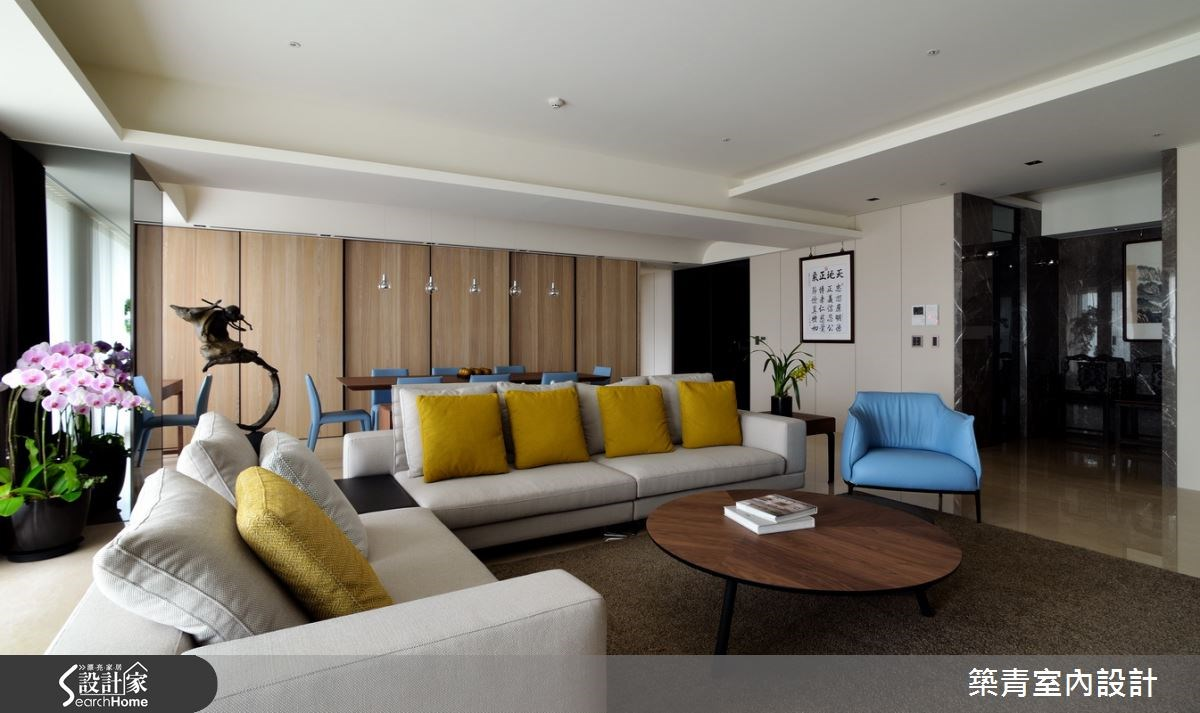 100坪預售屋_現代風客廳案例圖片_築青室內裝修有限公司_築青_30之7