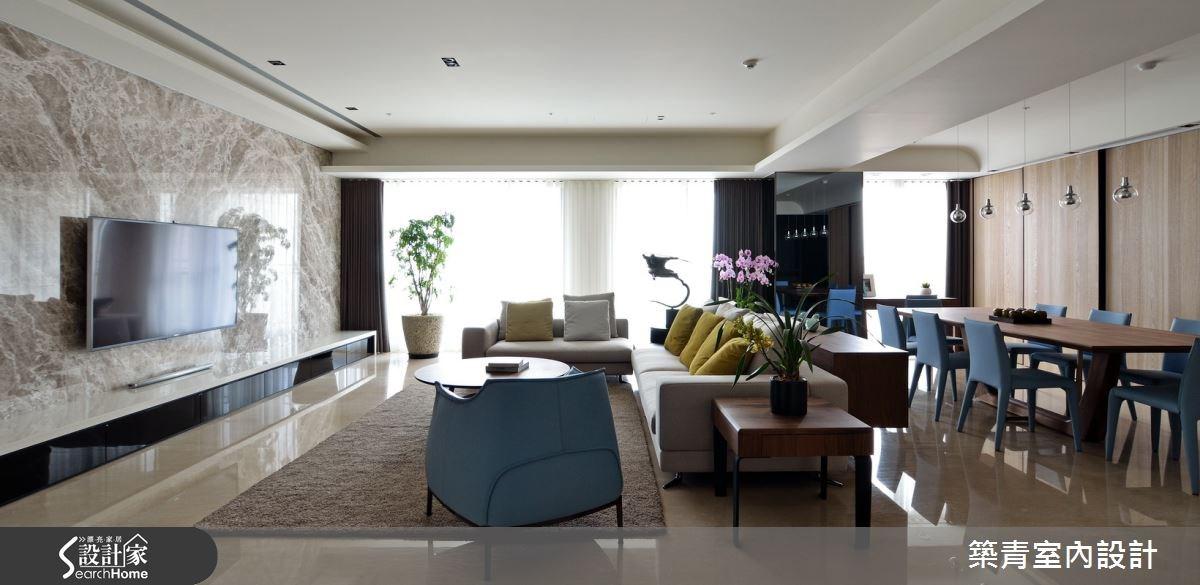 100坪預售屋_現代風客廳案例圖片_築青室內裝修有限公司_築青_30之9