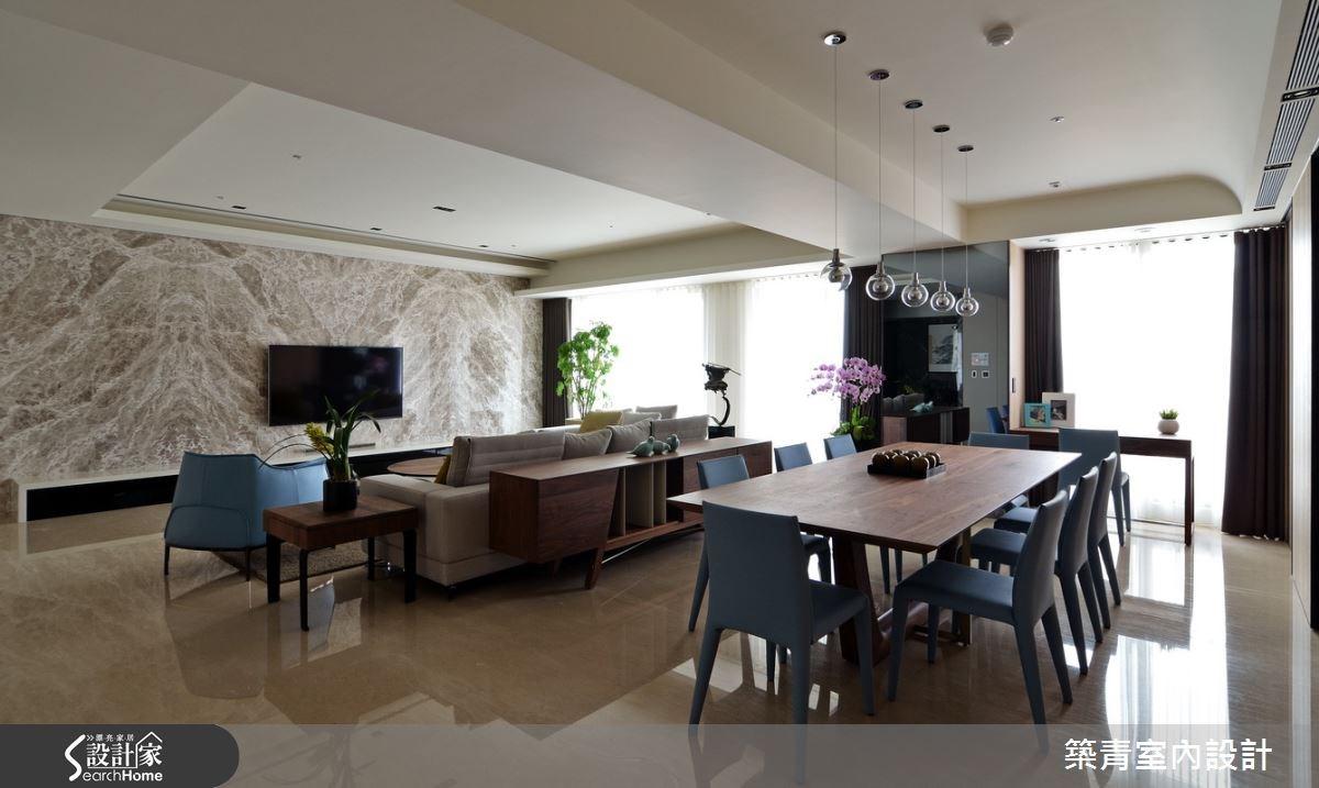 100坪預售屋_現代風餐廳案例圖片_築青室內裝修有限公司_築青_30之11