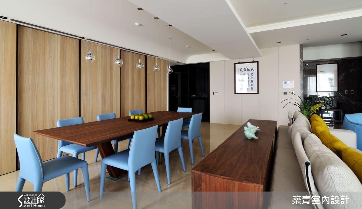 100坪預售屋_現代風餐廳案例圖片_築青室內裝修有限公司_築青_30之13
