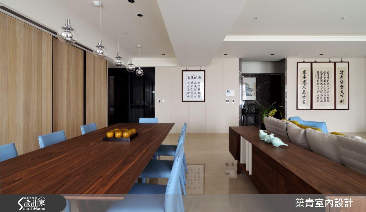 100坪預售屋_現代風餐廳案例圖片_築青室內裝修有限公司_築青_30之14