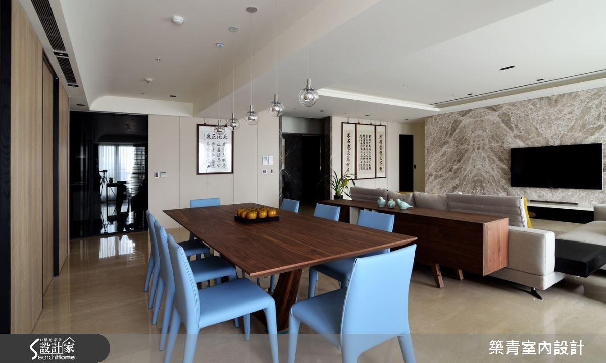 100坪預售屋_現代風餐廳案例圖片_築青室內裝修有限公司_築青_30之15