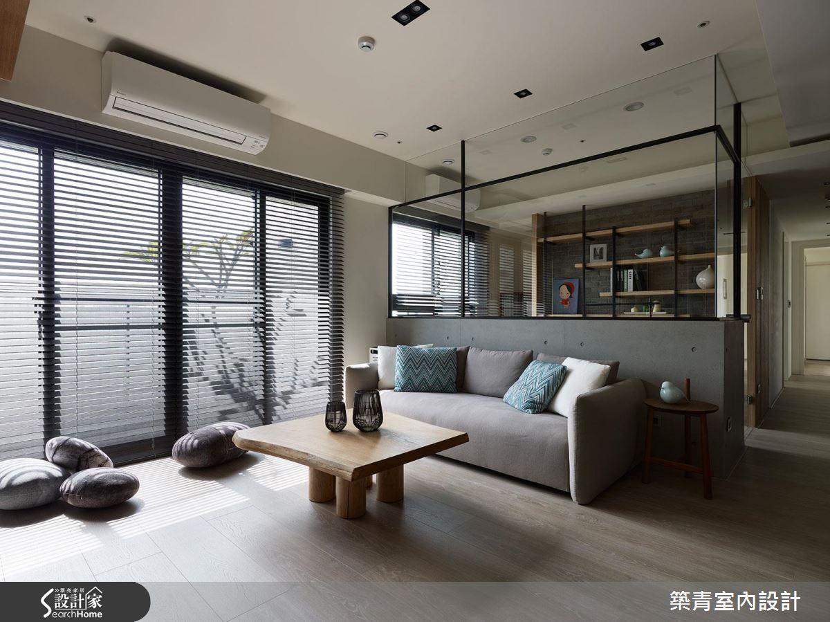 丟掉電視、破除制式! 帶點日式感的現代風 Living room