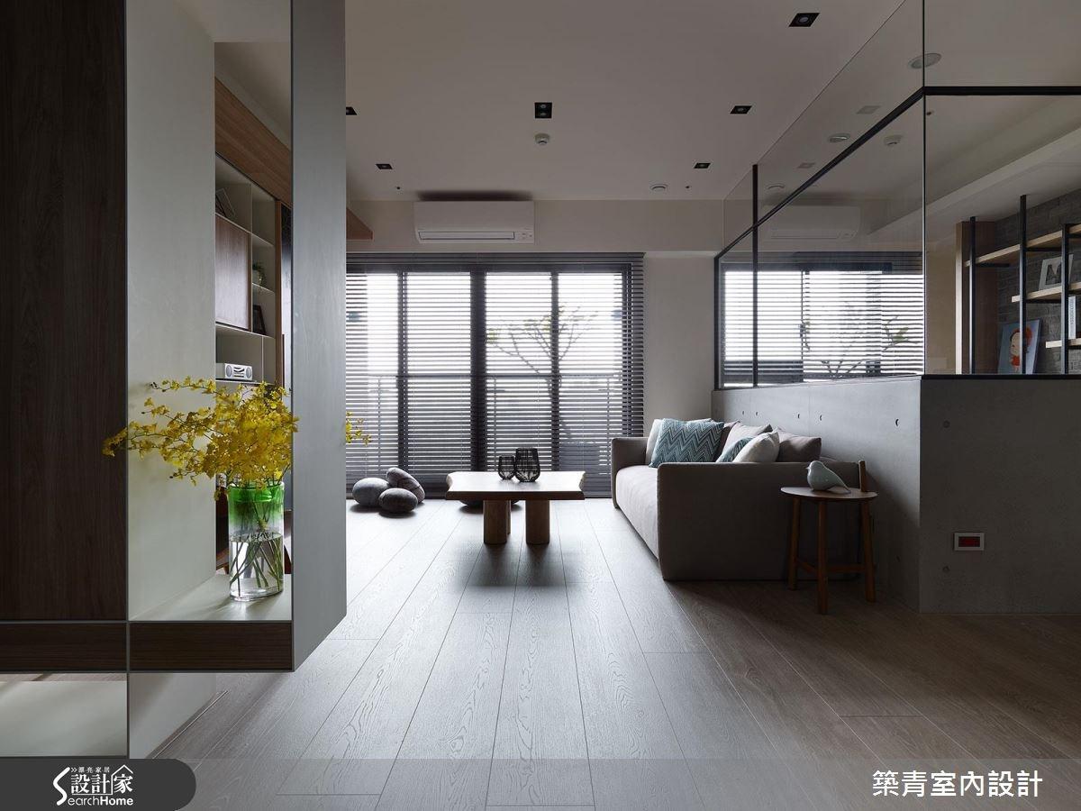 45坪預售屋_現代風客廳案例圖片_築青室內裝修有限公司_築青_41之3