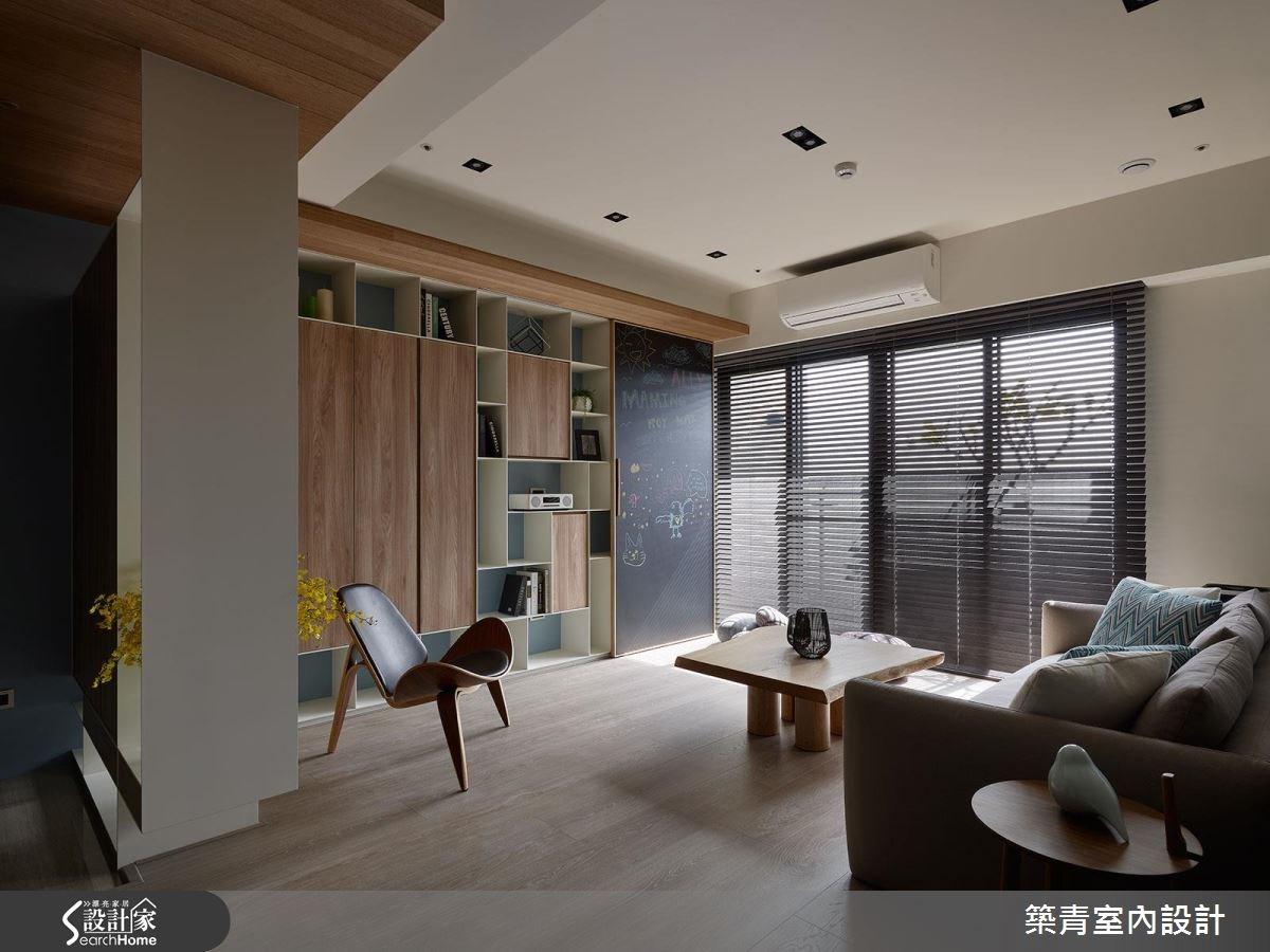 45坪預售屋_現代風客廳案例圖片_築青室內裝修有限公司_築青_41之4