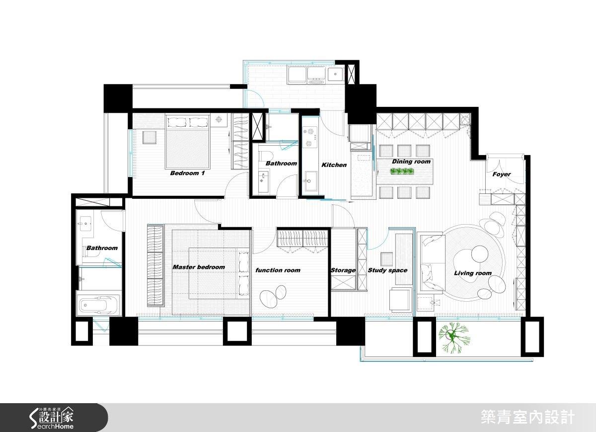 45坪預售屋_現代風案例圖片_築青室內裝修有限公司_築青_41之29