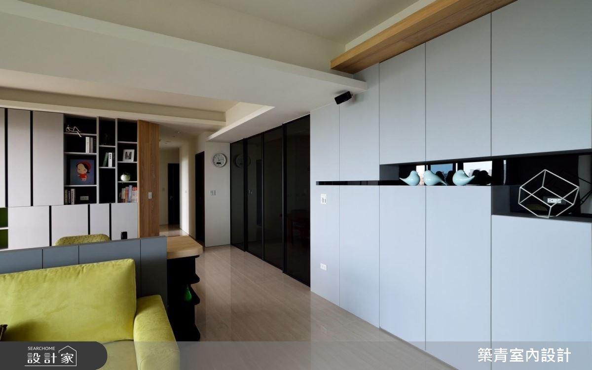 45坪預售屋_現代風客廳書房走廊案例圖片_築青室內裝修有限公司_築青_43之2