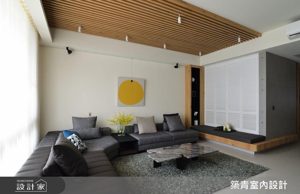 90坪新成屋(5年以下)_現代風客廳案例圖片_築青室內裝修有限公司_築青_44之2