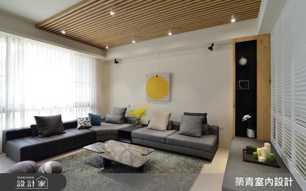 90坪新成屋(5年以下)_現代風客廳案例圖片_築青室內裝修有限公司_築青_44之4