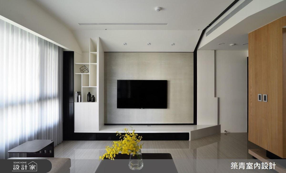 45坪預售屋_混搭風客廳案例圖片_築青室內裝修有限公司_築青_45之1