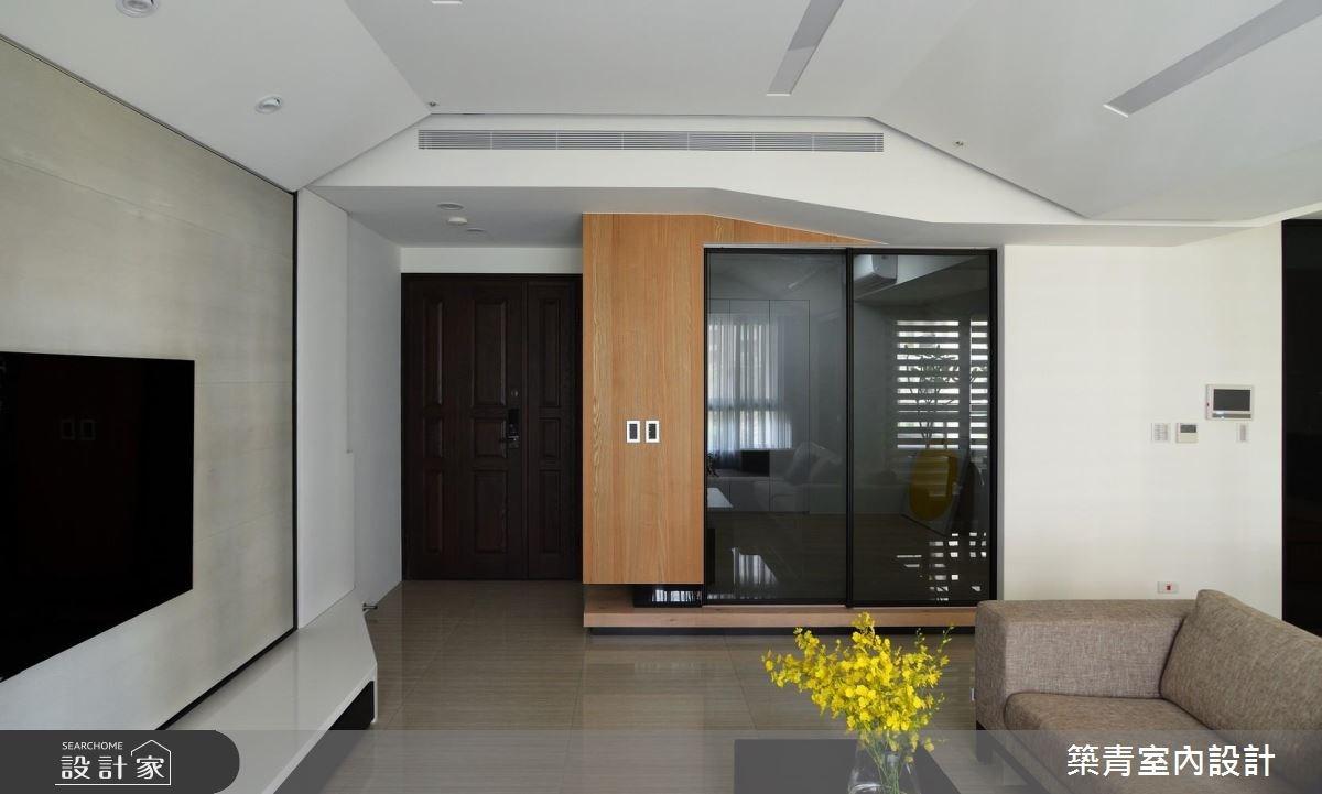 45坪預售屋_混搭風玄關客廳案例圖片_築青室內裝修有限公司_築青_45之4