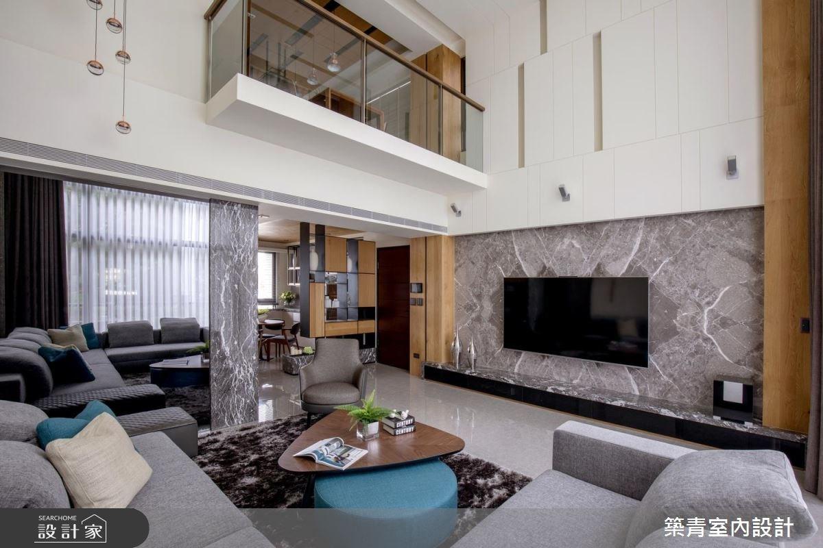 90坪新成屋(5年以下)_現代風客廳案例圖片_築青室內裝修有限公司_築青_46之2