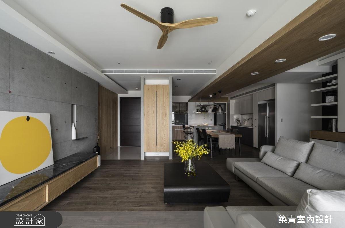 45坪新成屋(5年以下)_現代風客廳案例圖片_築青室內裝修有限公司_築青_47之3