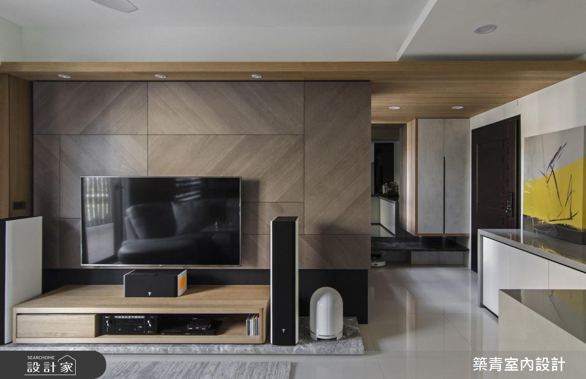 40坪預售屋_現代風客廳案例圖片_築青室內裝修有限公司_築青_48之4