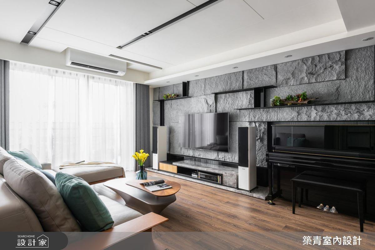 40坪預售屋_現代風客廳案例圖片_築青室內裝修有限公司_築青_52之4