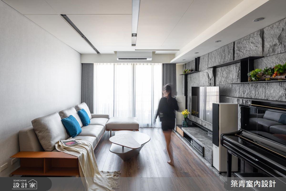 40坪預售屋_現代風客廳案例圖片_築青室內裝修有限公司_築青_52之3