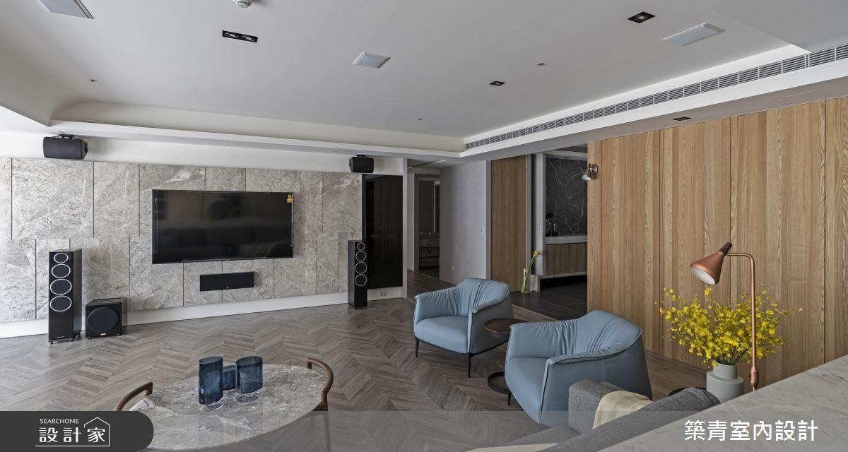 100坪新成屋(5年以下)_現代風客廳案例圖片_築青室內裝修有限公司_築青_55之4