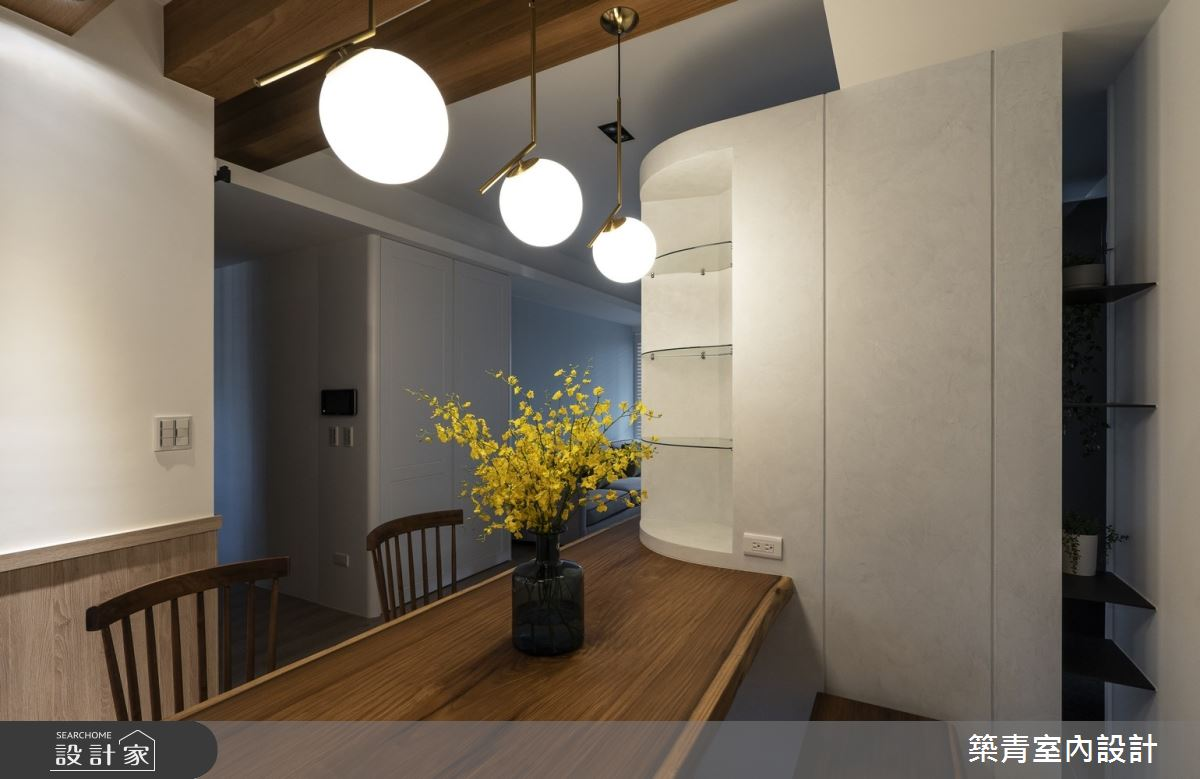 40坪新成屋(5年以下)_鄉村風餐廳案例圖片_築青室內裝修有限公司_築青_56之15