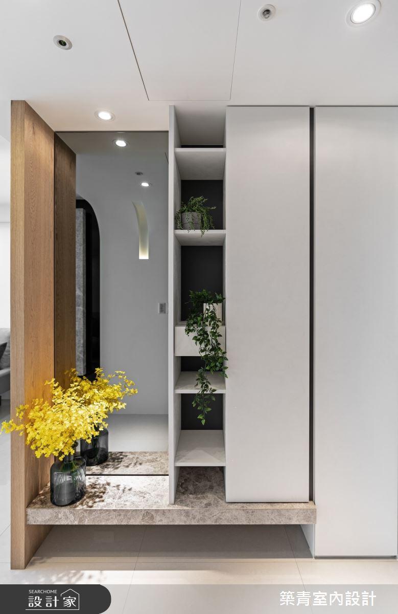40坪預售屋_現代風玄關案例圖片_築青室內裝修有限公司_築青_58之2