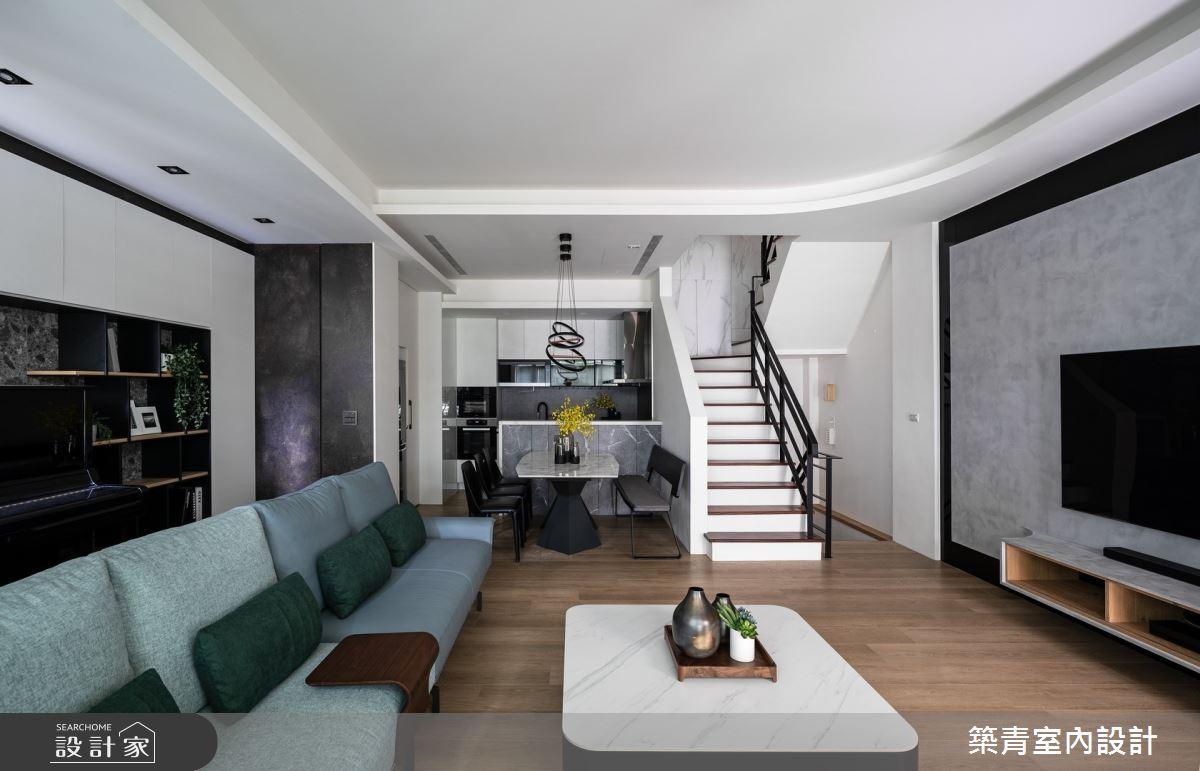 48坪新成屋(5年以下)_現代風客廳案例圖片_築青室內裝修有限公司_築青_60之2