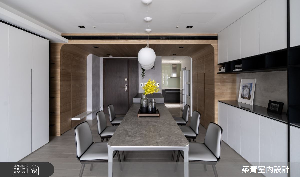 48坪新成屋(5年以下)_現代風餐廳案例圖片_築青室內裝修有限公司_築青_61之18