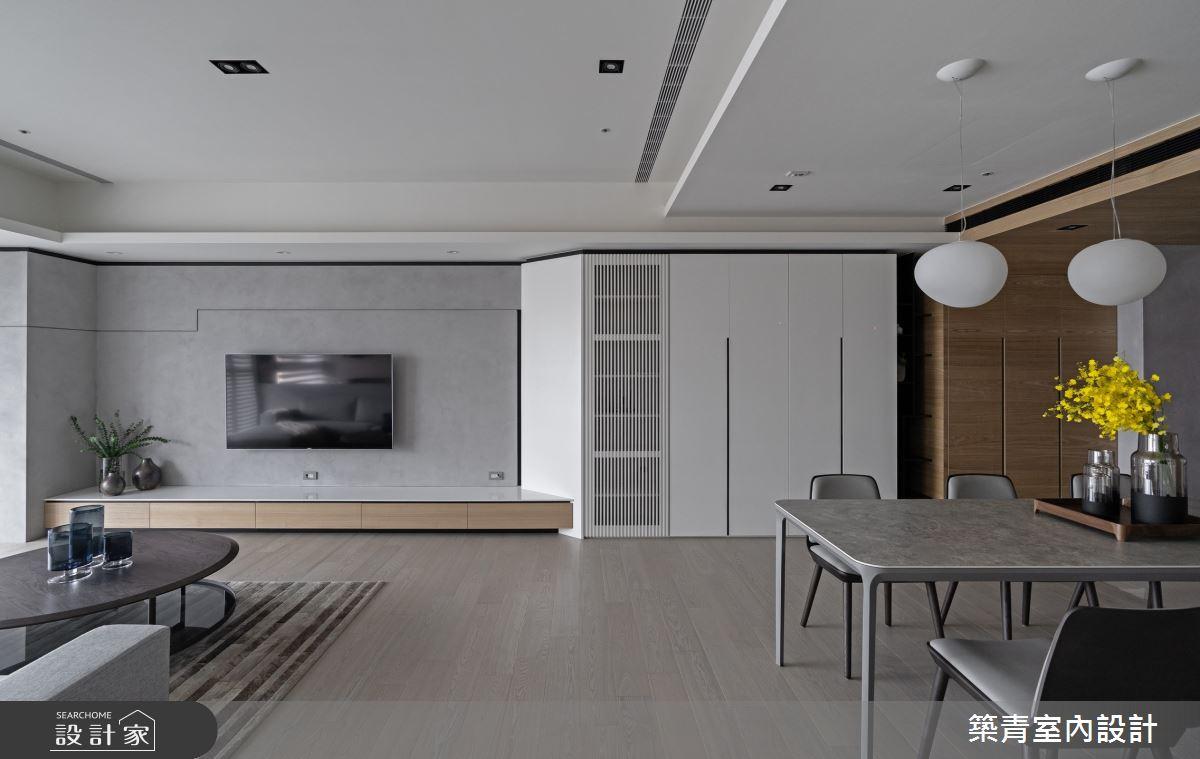 48坪新成屋(5年以下)_現代風客廳餐廳案例圖片_築青室內裝修有限公司_築青_61之6