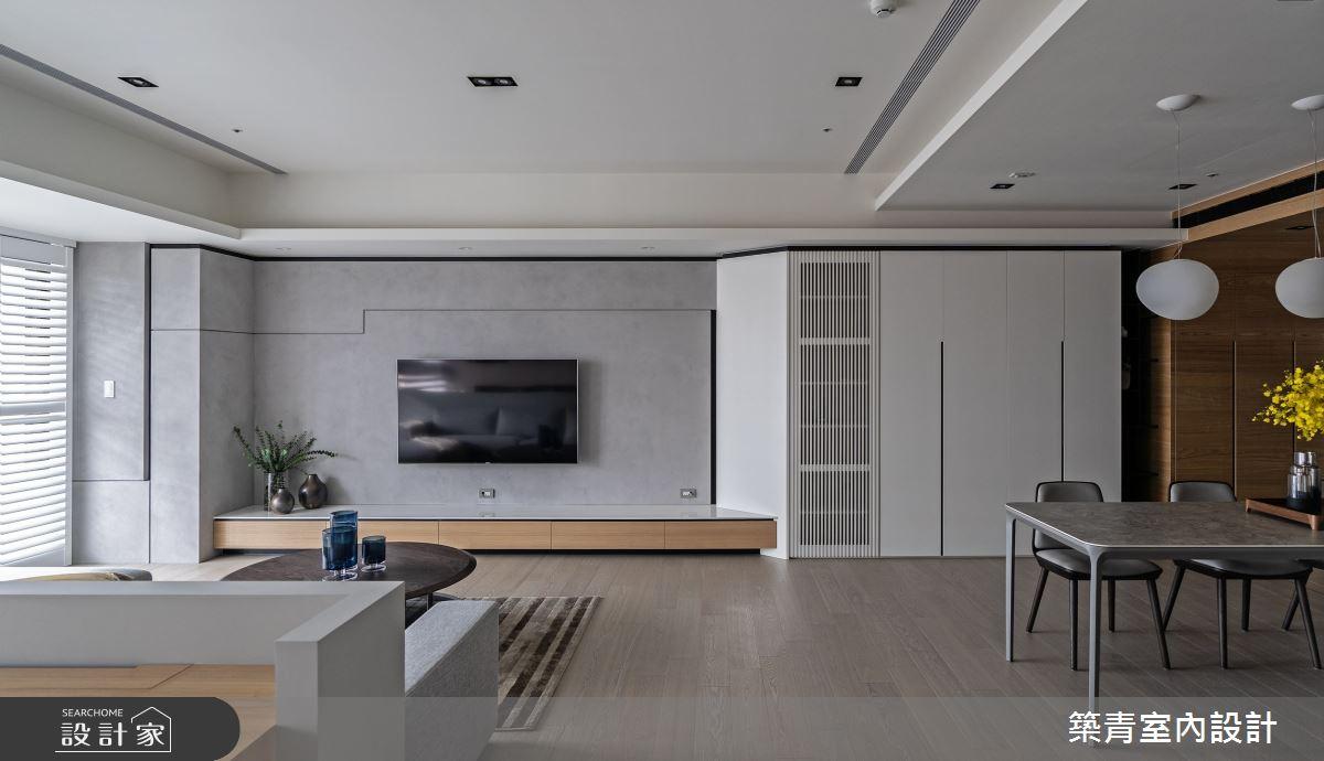 48坪新成屋(5年以下)_現代風客廳餐廳案例圖片_築青室內裝修有限公司_築青_61之5
