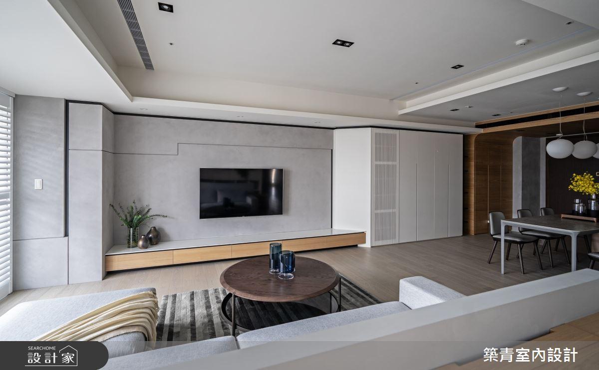 48坪新成屋(5年以下)_現代風客廳餐廳案例圖片_築青室內裝修有限公司_築青_61之7