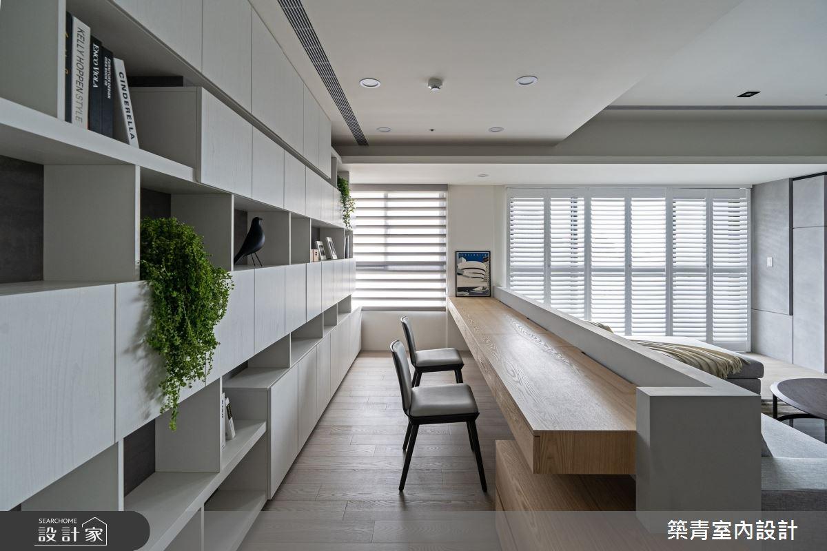 48坪新成屋(5年以下)_現代風書房案例圖片_築青室內裝修有限公司_築青_61之11