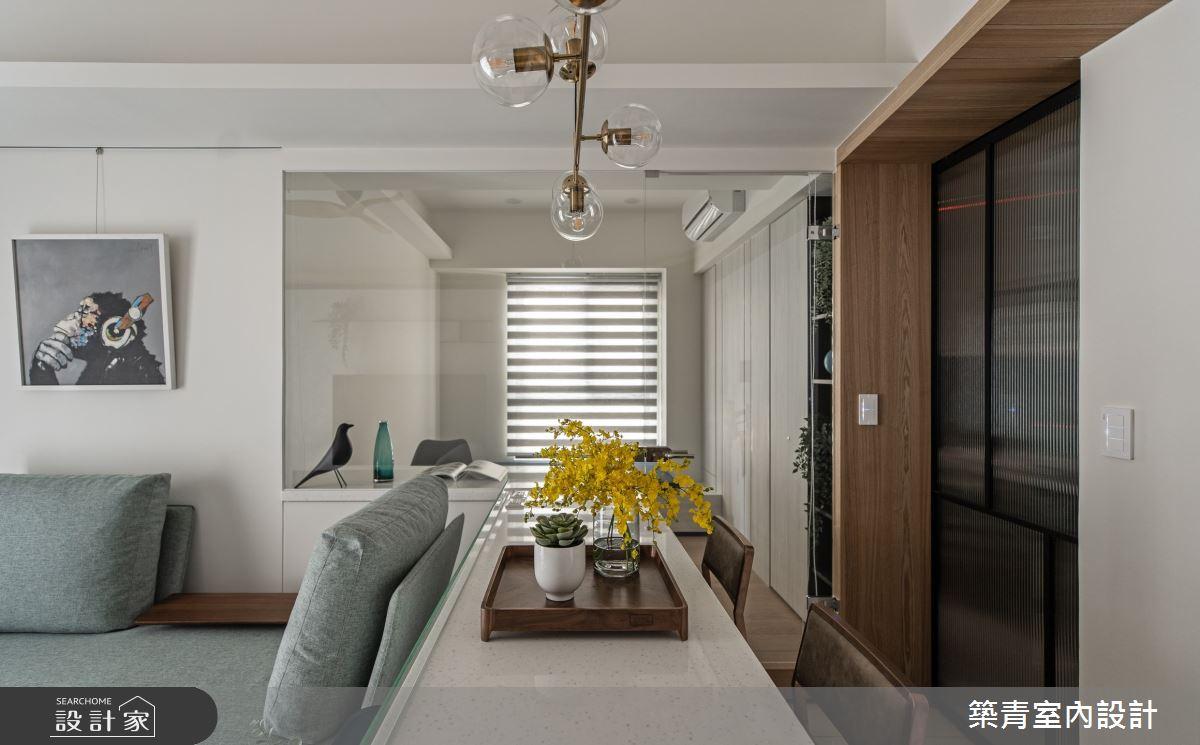 21坪新成屋(5年以下)_現代風餐廳中島案例圖片_築青室內裝修有限公司_築青_63之4