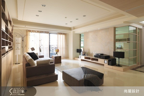 110坪新成屋(5年以下)_現代風客廳案例圖片_尚屋設計_尚屋_05之4