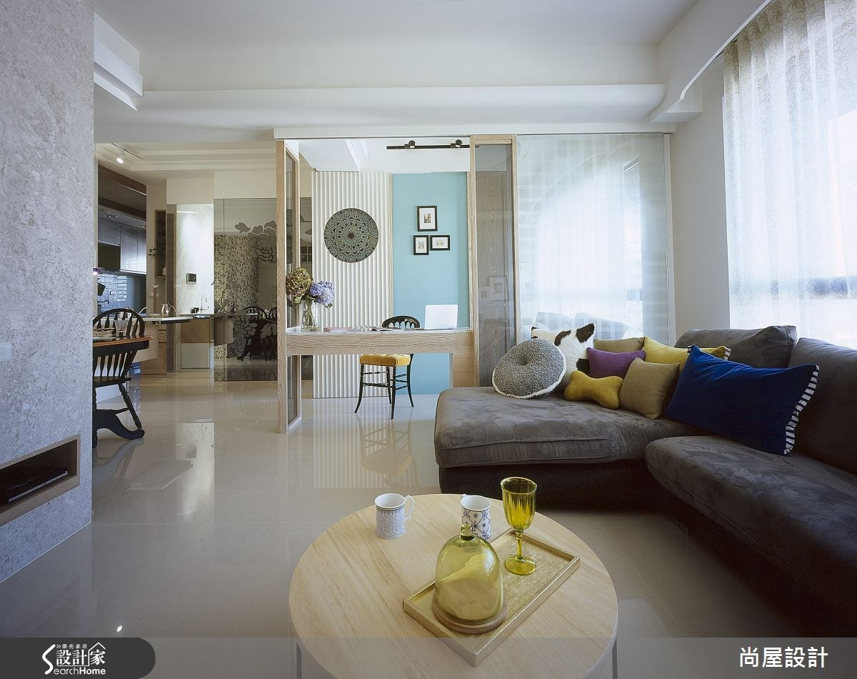 30坪新成屋(5年以下)_美式風客廳案例圖片_尚屋設計_尚屋_11之2