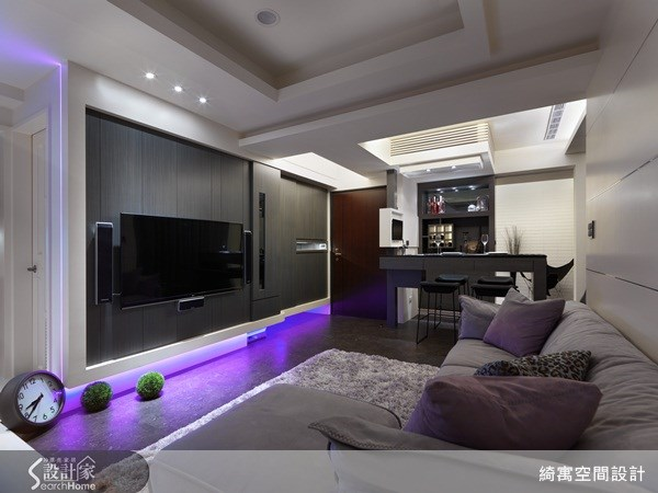 30坪新成屋(5年以下)_現代風玄關客廳吧檯案例圖片_綺寓空間設計_綺寓_08之3