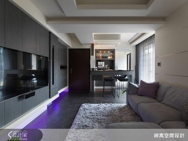 30坪新成屋(5年以下)_現代風玄關客廳吧檯案例圖片_綺寓空間設計_綺寓_08之4