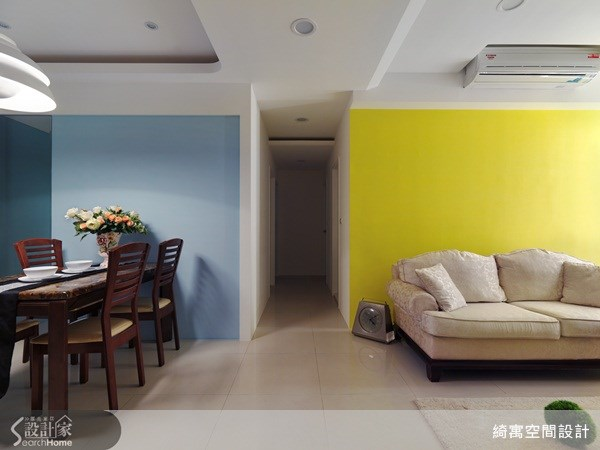 25坪中古屋(5~15年)_北歐風客廳餐廳走廊案例圖片_綺寓空間設計_綺寓_07之3