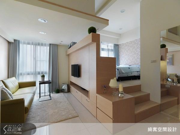 7坪新成屋(5年以下)_現代風客廳臥室案例圖片_綺寓空間設計_綺寓_09之1
