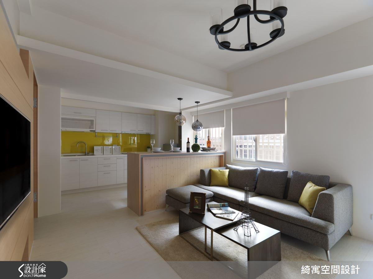 17坪老屋(16~30年)_現代風客廳餐廳廚房案例圖片_綺寓空間設計_綺寓_04之5