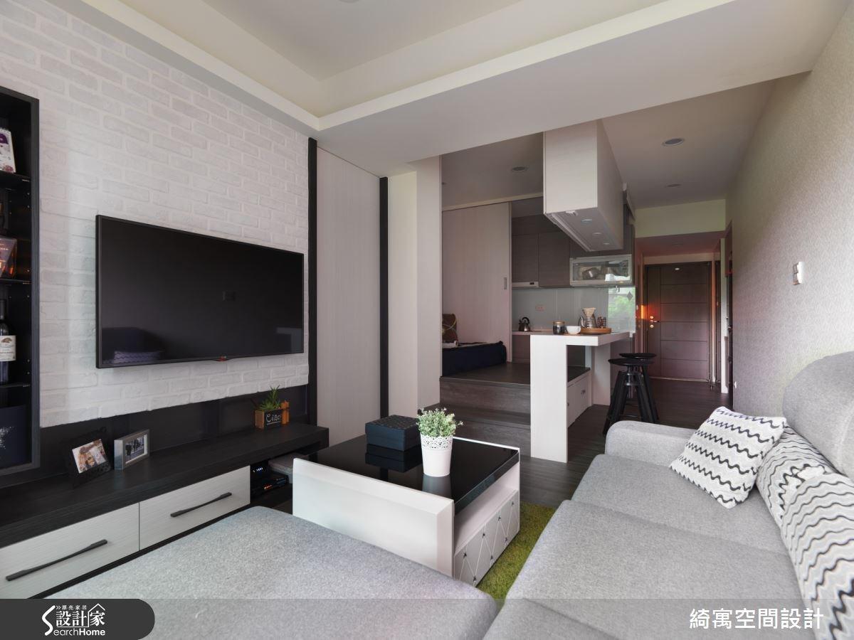 15坪中古屋(5~15年)_現代風玄關客廳廚房吧檯案例圖片_綺寓空間設計_綺寓_13之1