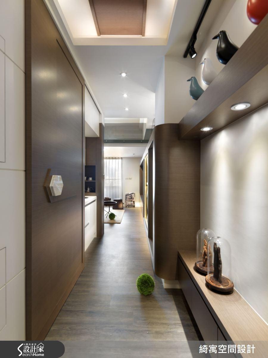 9坪新成屋(5年以下)_北歐風走廊案例圖片_綺寓空間設計_綺寓_14之1