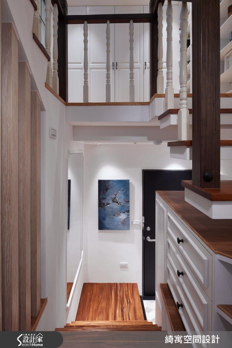 11坪老屋(16~30年)_美式風玄關樓梯案例圖片_綺寓空間設計_綺寓_19之3