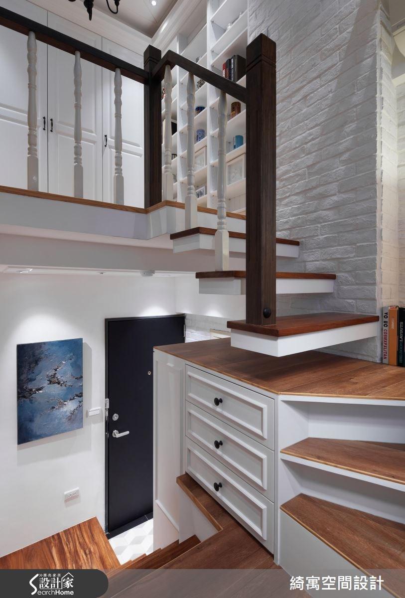 11坪老屋(16~30年)_美式風玄關樓梯案例圖片_綺寓空間設計_綺寓_19之4