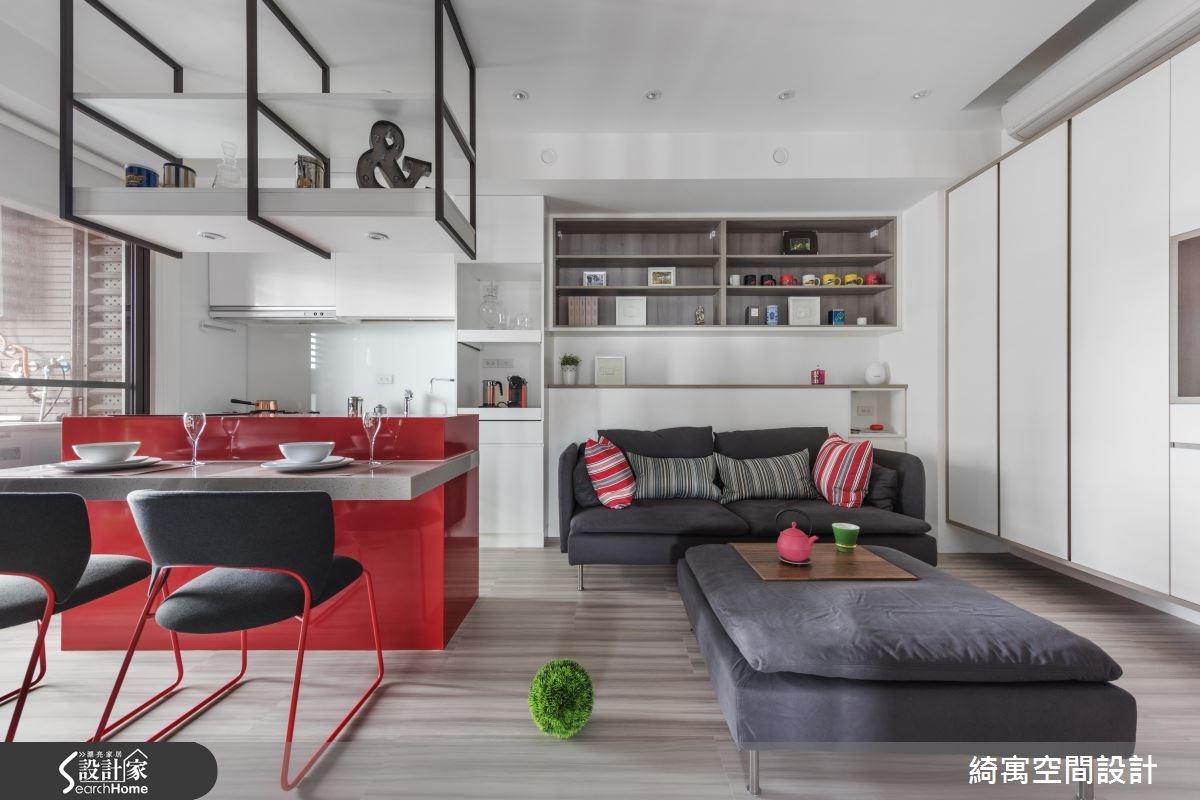 12坪新成屋(5年以下)_現代風客廳餐廳廚房案例圖片_綺寓空間設計_綺寓_20之4