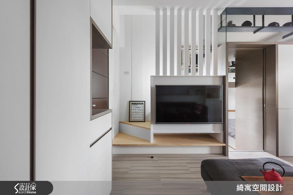 12坪新成屋(5年以下)_現代風客廳樓梯案例圖片_綺寓空間設計_綺寓_20之7