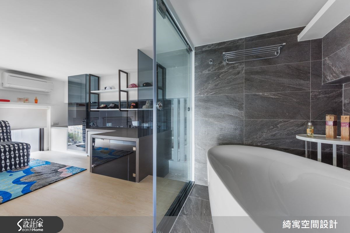 12坪新成屋(5年以下)_現代風更衣間浴室案例圖片_綺寓空間設計_綺寓_20之11