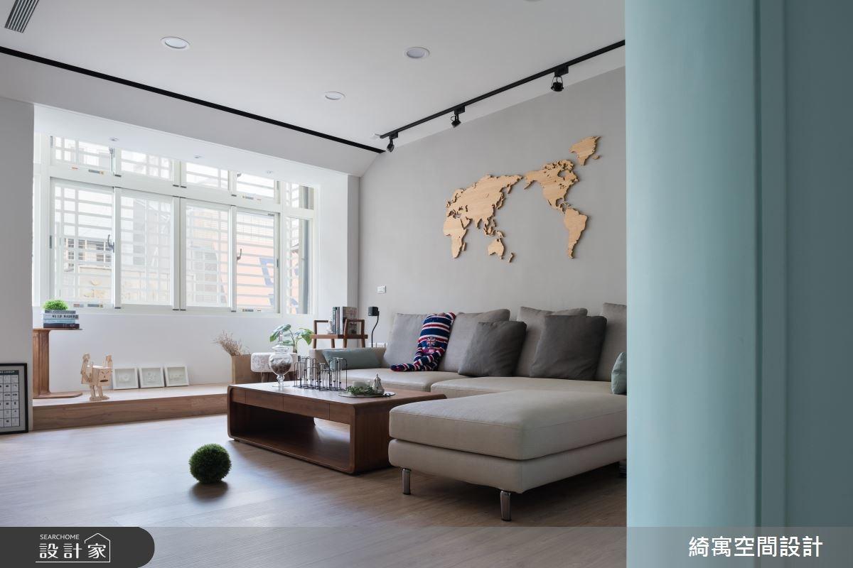 26坪老屋(16~30年)_北歐風客廳案例圖片_綺寓空間設計_綺寓_21之1
