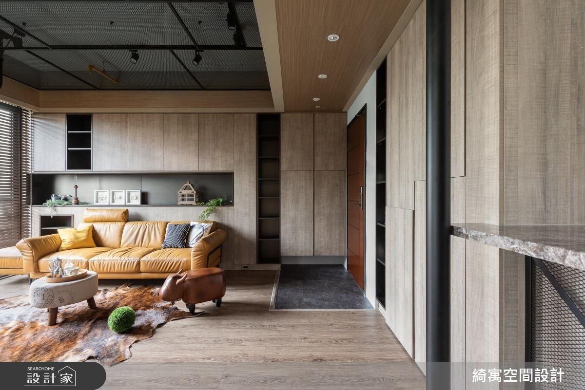 23坪新成屋(5年以下)_工業風玄關客廳案例圖片_綺寓空間設計_綺寓_23之1